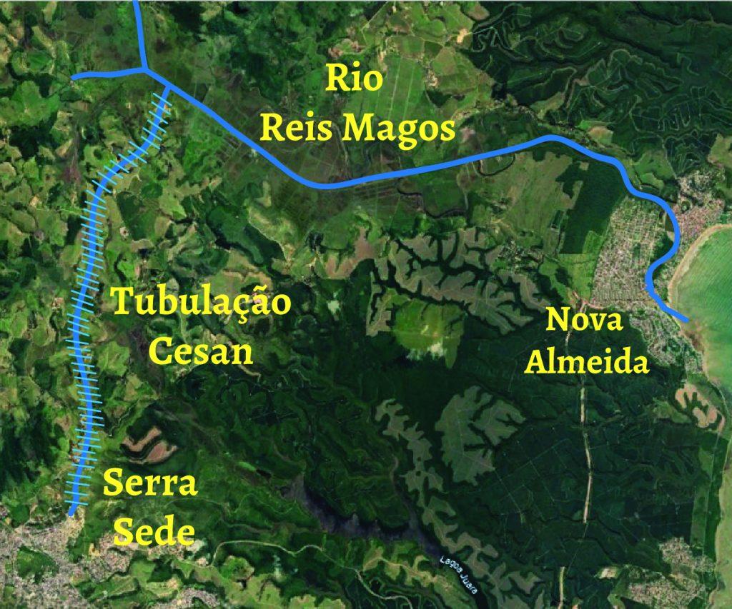 Água salobra da Cesan faz moradores passarem mal na região da Serra Sede